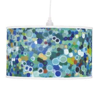 Stained Glass Dots Boho Modern Drum Lamp