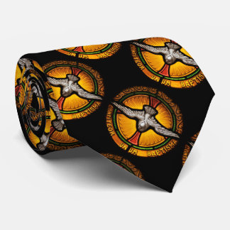 Stained glass dove tie