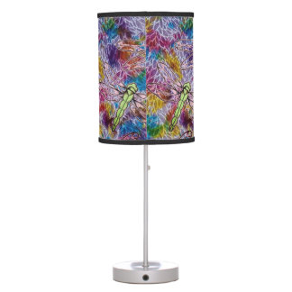 Stained Glass Dragon Fly Table Lamp