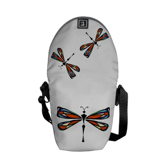 Stained Glass Dragonfly Mini Messenger bag