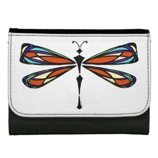 Stained Glass Dragonfly Wallet