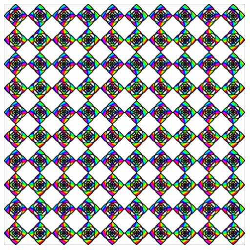 Stained Glass Effect Floral Pattern. Acrylic Cut Outs
