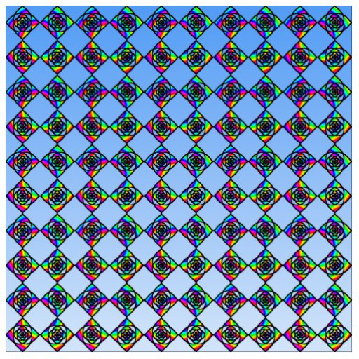 Stained Glass Effect Floral Pattern. Photo Sculptures