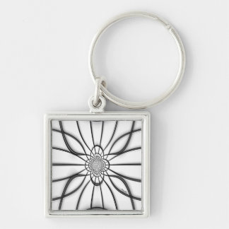 Stained Glass Embossed Elegance Keychain