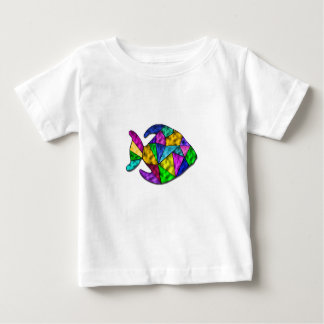 stained glass fish baby T-Shirt