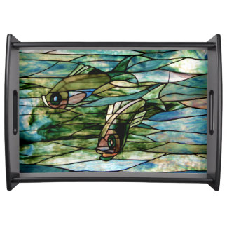 Stained Glass Fish by Tiffany - Serving Tray 1