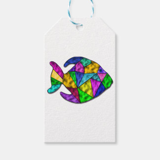 stained glass fish gift tags