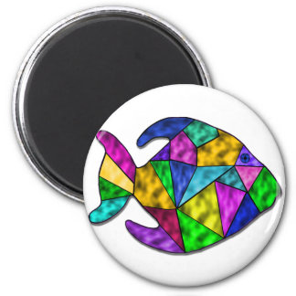 stained glass fish magnet
