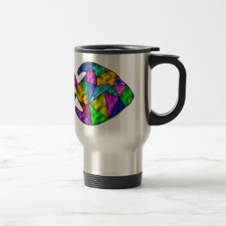 stained glass fish travel mug