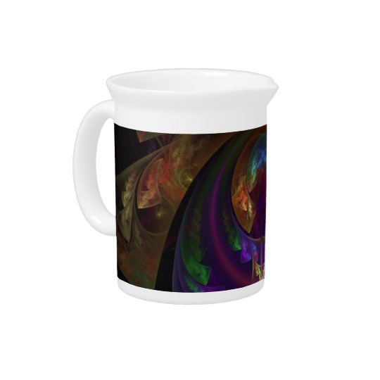 Stained Glass Flames Sugar or Creamer Pitcher
