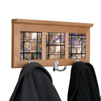 Stained Glass Flowers Coat Rack