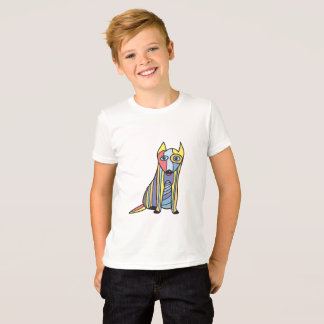 Stained Glass Funny Dogs. Loki. Only. T-Shirt