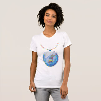 Stained Glass Funny Dogs. Ollie. T-Shirt