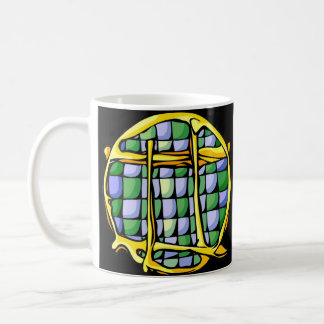 Stained Glass Gemini Coffee Mug