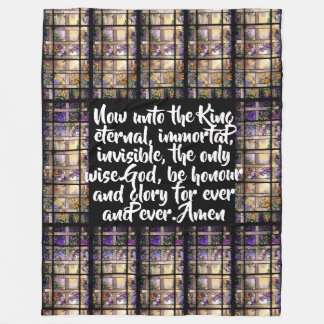 Stained Glass Honor To The King Fleece Blanket