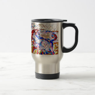Stained Glass Horse race Travel Mug