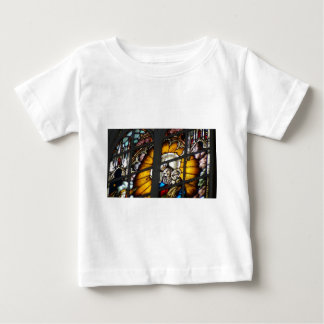Stained Glass Jesus and Virgin Mary Baby T-Shirt