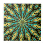 Stained Glass Kaleidoscope #6 Ceramic Tile
