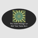 Stained Glass Kaleidoscope #6 Oval Stickers