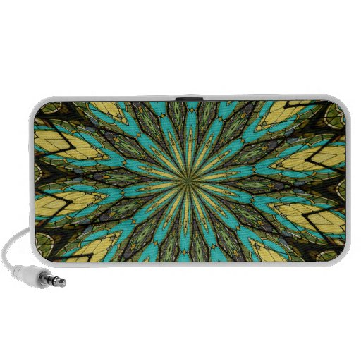 Stained Glass Kaleidoscope #6 Portable Speakers