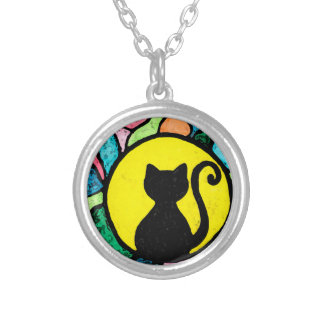 Stained Glass Kitty Necklace