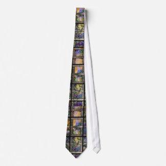 Stained Glass Lattice Vines Tie