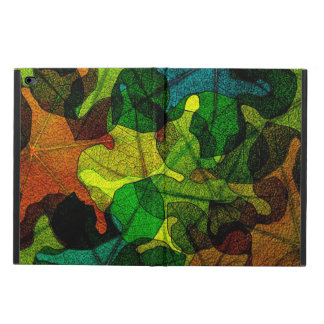 stained glass leaves abstract art