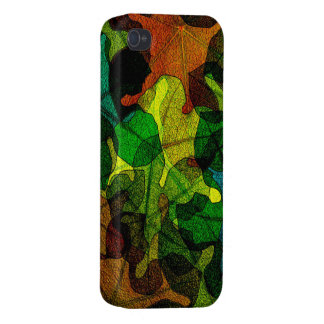 stained glass leaves abstract art iPhone 4 covers