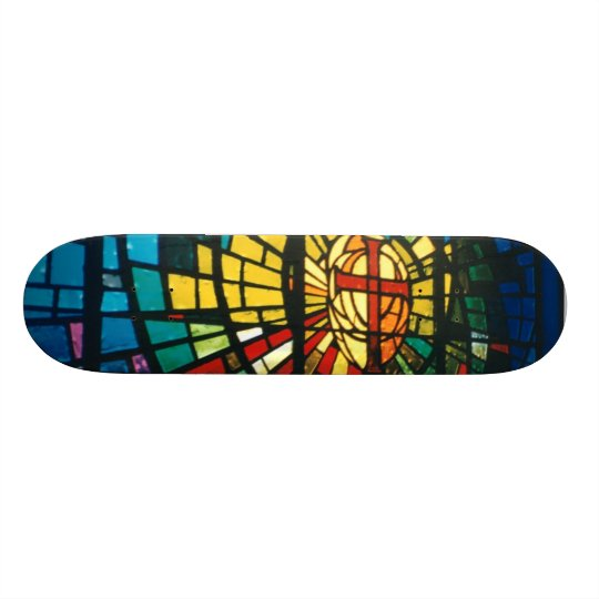 Stained Glass Light Prism colours Skateboard deck