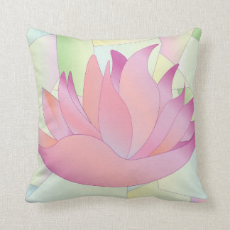 Stained Glass Lotus Flower Pillow