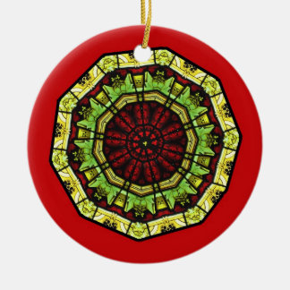 Stained Glass Mandala Ornament