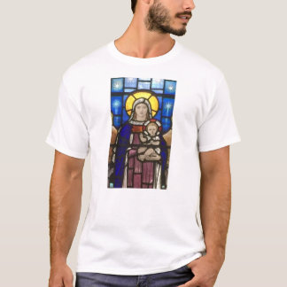 Stained Glass Mary and Jesus on T Shirt