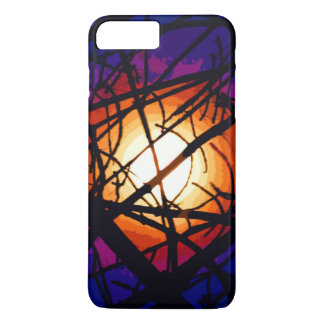 Stained Glass Moon Abstract iPhone 7 Plus Case