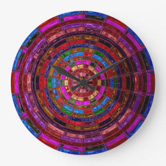 Stained Glass Mosaic Abstract #2 Wallclock