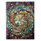 "Stained Glass Mosaic Notebook ""Music of  Spheres"""