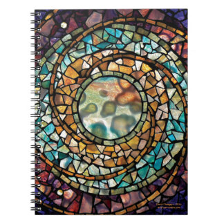 """Stained Glass Mosaic Notebook """"Music of  Spheres"""""""