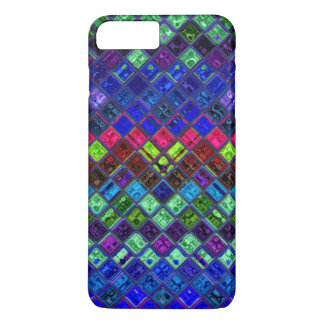 Stained Glass Mosaic Pattern iPhone 7 Plus Case