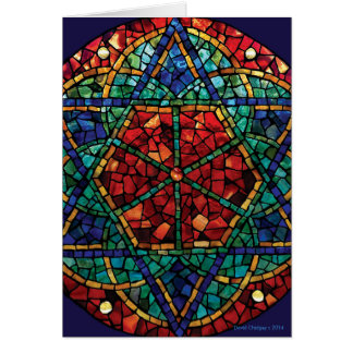 Stained Glass Mosaic Season's Greetings Card