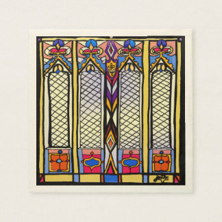 Stained Glass Napkins Paper Napkin