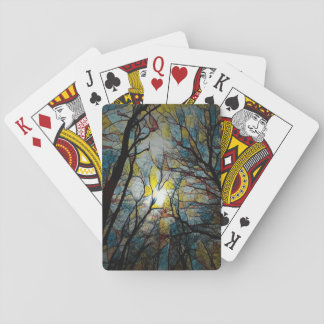Stained Glass Nature Playing Cards