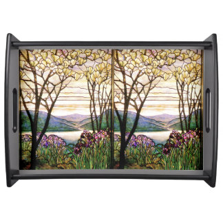 Stained Glass Nature Serving Tray