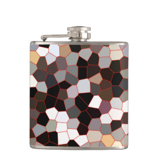 Stained Glass Pattern Hip Flask