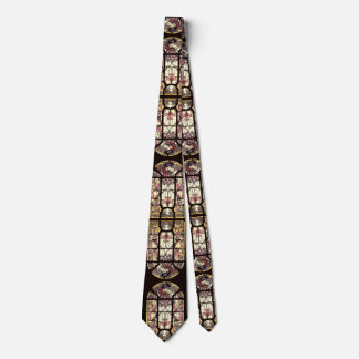 Stained Glass Peacock Bird Feather Butterflies Tie