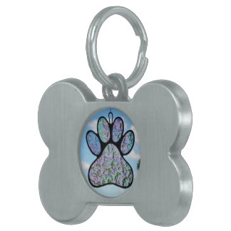 """Stained glass """"Pet Tag"""" Pet Tag"""