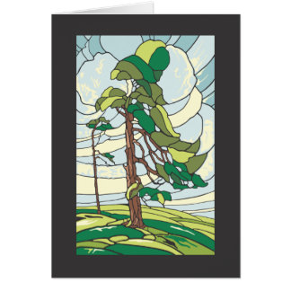 Stained glass Pines- Summer Joy Card