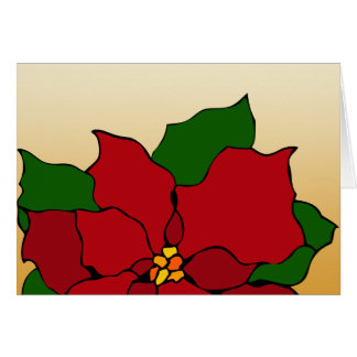 Stained-Glass Poinsettia Card