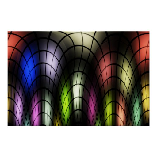 Stained Glass Poster Print
