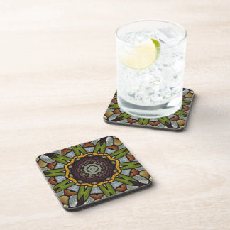 Stained Glass Print Coaster Set