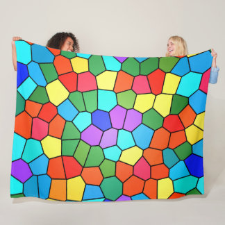 Stained Glass Rainbow 2183 Fleece Blanket