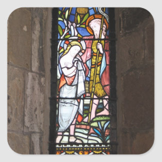 Stained Glass Religious Window Sticker